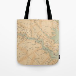 Vintage Map of The James River (1899) Tote Bag