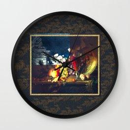 Ancient Fruits Wall Clock