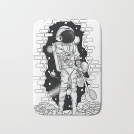 Astronaut on the loose Bath Mat