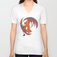 diablo V-neck T-shirts featuring Garita del Diablo by Sanfeliu