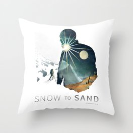 """Snow To Sand"" Official One-Sheet Poster Throw Pillow"