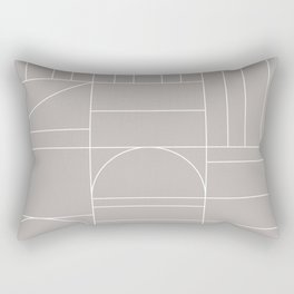 Deco Geometric 04 Grey Rectangular Pillow