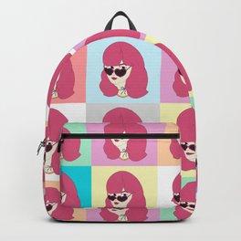 Heart-Shaped Glasses Backpack