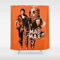 mad max Shower Curtains featuring Mad Max by leea1968