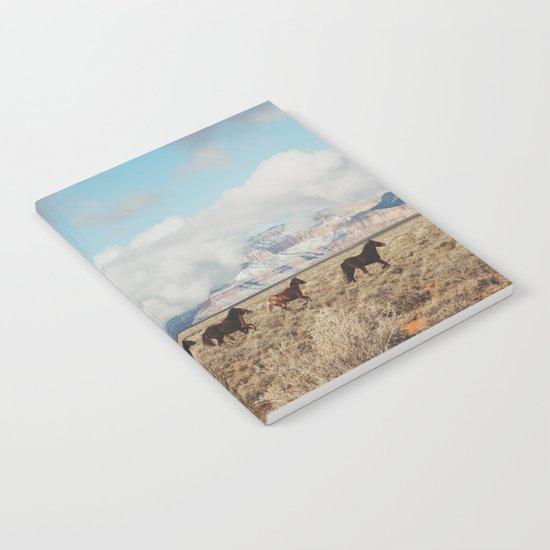Running Reservation Horses Notebook
