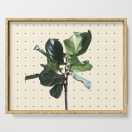 Home Ficus Serving Tray