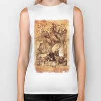 medieval Biker Tanks featuring Medieval by TheMagicWarrior