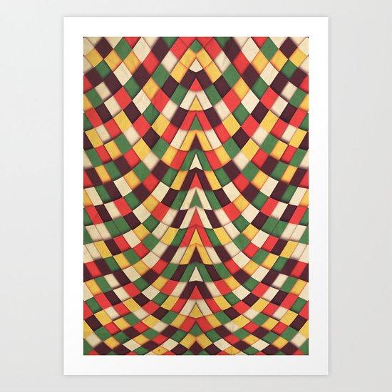 Rastafarian Tile Art Print