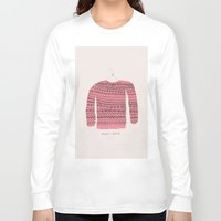 sweater Long Sleeve T-shirts featuring Saco-Sweater by Alejandra Hernandez