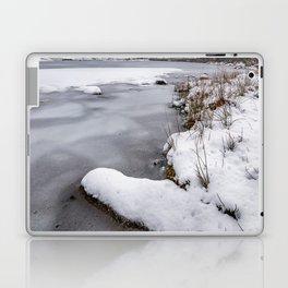 Snowfall at Ogwen Lake Snowdonia Laptop & iPad Skin