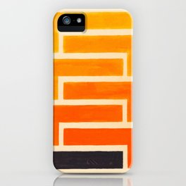 Orange & Black Geometric Pattern iPhone Case