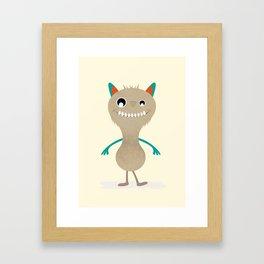 Little monster Framed Art Print