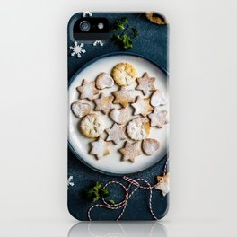 Santa's Christmas Cookies (Color) iPhone Case