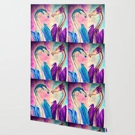 Watercolor Dragons Wallpaper