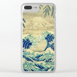The Great Blue Embrace at Yama Clear iPhone Case