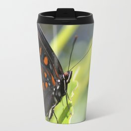 Close Up of Red Spotted Admiral Travel Mug