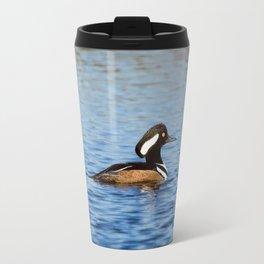 Hooded Merganser Drake Travel Mug
