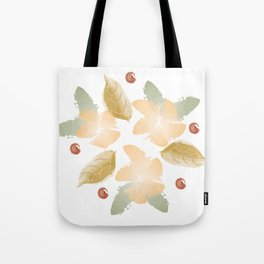 Autumn flowers - orange and ochre Tote Bag