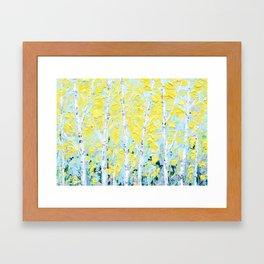 New England Paper Birch Framed Art Print