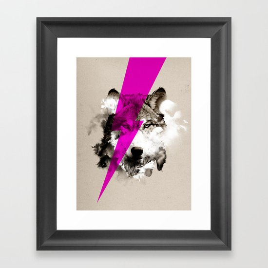 Wolf Rocks Framed Art Print