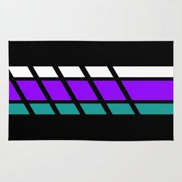 Team Colors 4..Aqua, purple Rug