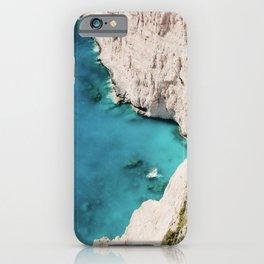 Zante Cliff View Ocean Blue Sea Mountain iPhone Case