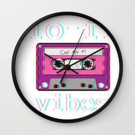 Low Fidelity Music product Aesthetic Tape Lo - fi Vibes design Wall Clock