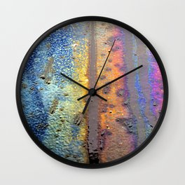 (t)Rainbow Wall Clock
