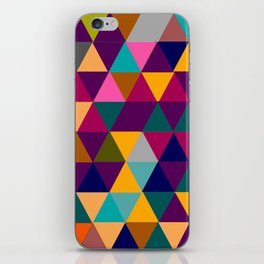 Multicolor triangle shapes pattern iPhone Skin