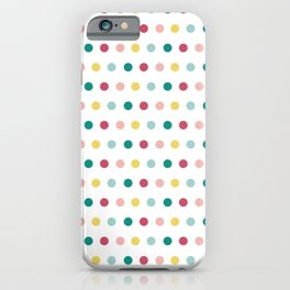 Colorful happy dots iPhone Case