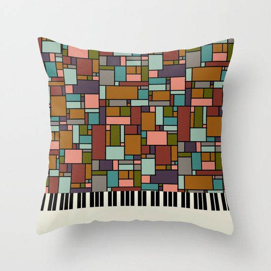 The Well-Tempered Clavier - Bach Throw Pillow