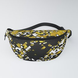 Geometric Mustard Yellow Skull Composed Of Triangles Fanny Pack
