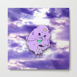 Meanwhile in Lumpy Space Metal Print