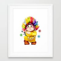 indian Framed Art Prints featuring Indian  by tatiana-teni