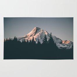 First Light on Mount Hood Rug
