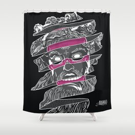 No god in my history Shower Curtain