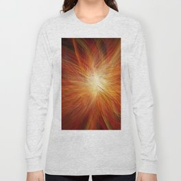 Abstract Sunburst Long Sleeve T-shirt