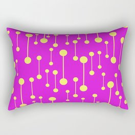 Bonded - Minimalistic Pattern In Purple And Yellow Rectangular Pillow