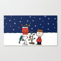 snoopy Canvas Prints featuring snoopy by Just Be Love