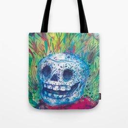 Mayan Skull Tote Bag