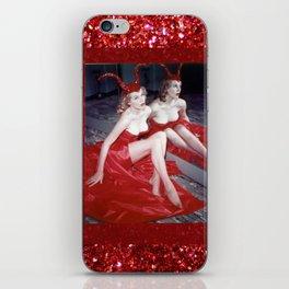 Femme Fatale - Anita Red Devil Glitter iPhone Skin