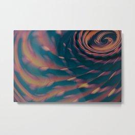 Spiral Sunset Metal Print