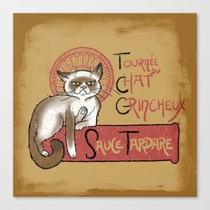 Tournee du Chat Grincheux Canvas Print