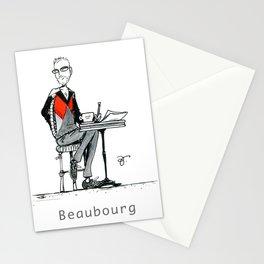 A Few Parisians: Beaubourg by David Cessac Stationery Cards