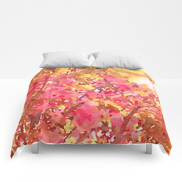 Cherry Blossom Canopy Comforters