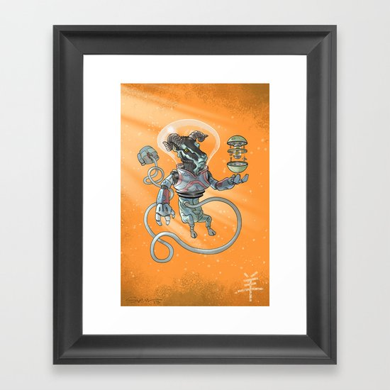 Astro Zodiac Force 08: Ram Framed Art Print