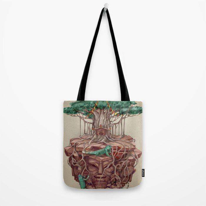 tree land Tote Bag