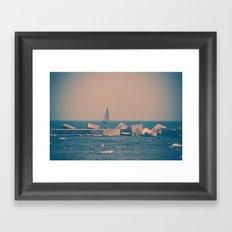 Sail Barcelona (Pink) Framed Art Print