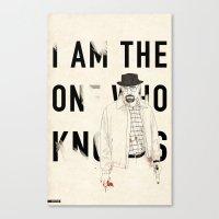 heisenberg Canvas Prints featuring Heisenberg by keith p. rein