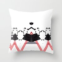 rorschach Throw Pillows featuring Rorschach by Isaak_Rodriguez